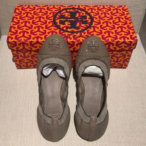 Tory Burch Gabby Ballet Flats London Gray 7.5